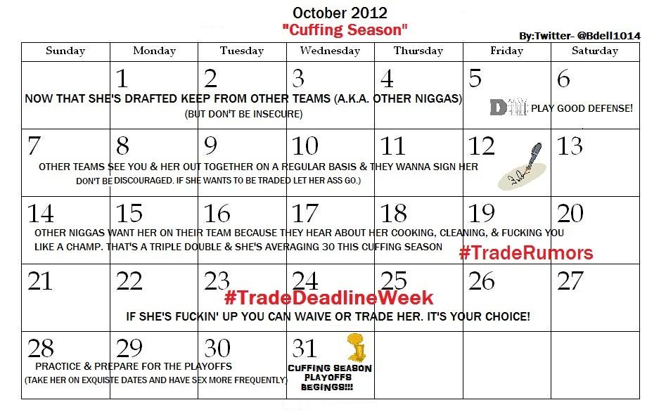 Cuffing season dates